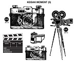 KODAK MOMENT (5) STATIC MOUNTED RUBBER STAMPS