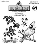CARDINAL CREST (4) STATIC MOUNTED RUBBER STAMPS
