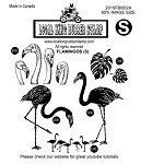 FLAMINGOS (5) EZ MOUNTED RUBBER STAMPS