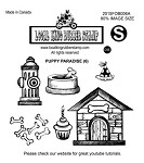 PUPPY PARADISE (6) EZ MOUNTED RUBBER STAMPS