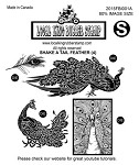 SHAKE A TAIL FEATHER (4) EZ MOUNTED RUBBER STAMPS
