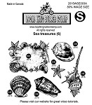 SEA TREASURES (5) STATIC MOUNTED RUBBER STAMPS