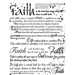 FAITH 1 STATIC MOUNTED RUBBER STAMP