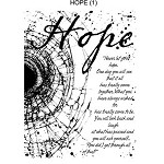 HOPE (1) MOUNTED RUBBER STAMP