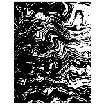 WAVES 1 STATIC MOUNTED RUBBER STAMP