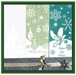 WINTER WISHES(3) STATIC MOUNTED RUBBER STAMPS