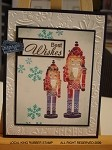 NUTCRACKERS (4 ) STATIC MOUNTED RUBBER STAMPS