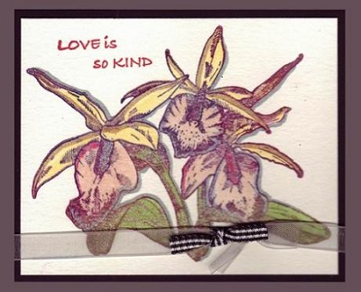ORCHID GROUP (1) CLING MOUNT RUBBER STAMP