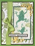 RIBBIT RIBBIT(5) CLING MOUNTED RUBBER STAMPS