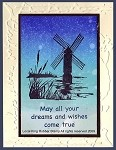WINDMILLS(4) STATIC MOUNTED RUBBER STAMPS