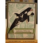 FREE WILLY (5) CLING MOUNTED RUBBER STAMPS