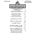 HEARTFELT SYMPATHY (6) CLING MOUNTED RUBBER STAMPS