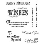 QUOTES WISHES  (8) CLING MOUNTED RUBBER STAMPS
