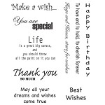 TEXT 6 (9) CLING MOUNTED RUBBER STAMPS
