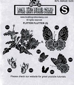 Flitter and Flutter (5) Static mounted rubber stamps