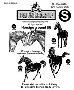 HORSINGAROUND (5) EZ MOUNTED STAMP