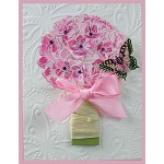 HYDRANGEA RUBBER STAMP AND MATCHING DIE COMBO