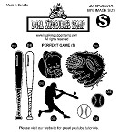 PERFECT GAME (7) STATIC MOUNTED RUBBER STAMP SET