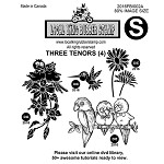 THREE TENORS (4) EZ MOUNTED STAMPS