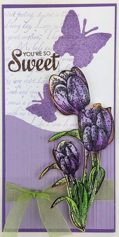 TULIPS STAMP AND DIE COMBO SET