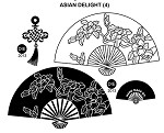 ASIAN DELIGHT (4) STATIC MOUNTED RUBBER STAMPS
