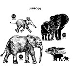 JUMBO(4) STATIC MOUNTED RUBBER STAMPS