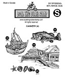 CANNERY (4) CLING MOUNTED RUBBER STAMPS