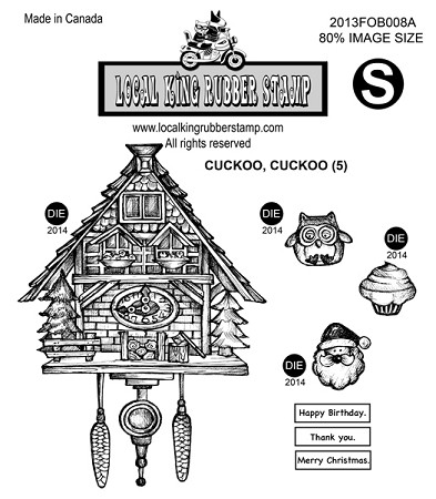 CUCKOO, CUCKOO (5) static mounted rubber stamps