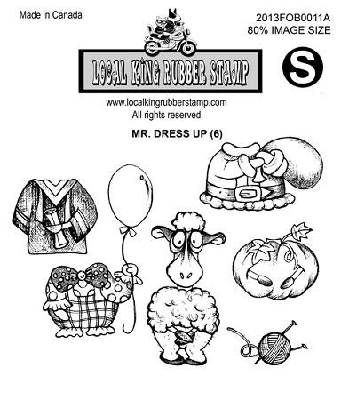 Mr. Dress up (6) Static mounted rubber stamps