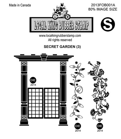 SECRET GARDEN (3) STATIC MOUNTED RUBBER STAMPS