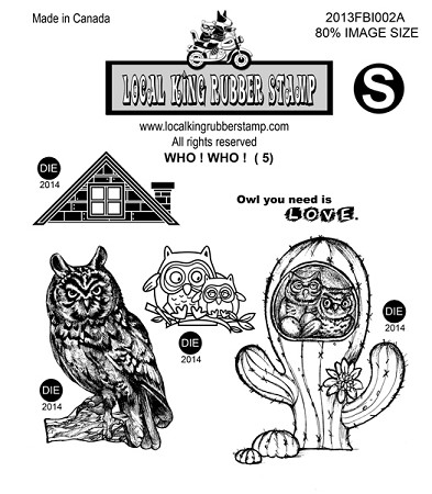 WHO!WHO! (5) STATIC MOUNTED RUBBER STAMPS