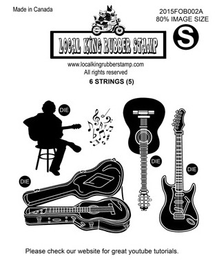 6 STRINGS (6) EZ MOUNTED RUBBER STAMPS