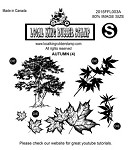 AUTUMN (4) EZ MOUNTED RUBBER STAMPS
