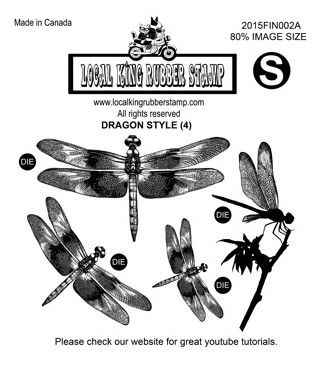 DRAGON STYLE (4) EZ MOUNTED RUBBER STAMPS