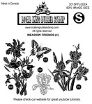 MEADOW FRIENDS (4) EZ MOUNTED RUBBER STAMPS