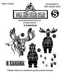 O CANADA (6) EZ MOUNTED RUBBER STAMPS