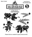 POND FRIENDS (5) EZ MOUNTED RUBBER STAMPS