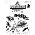 FEATHER PLEASURE (4) STATIC MOUNTED RUBBER STAMPS