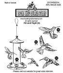 FLIT AND FLIGHT (4) STATIC MOUNTED RUBBER STAMPS