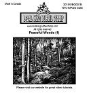PEACEFUL WOODS (1) STATIC MOUNTED RUBBER STAMP