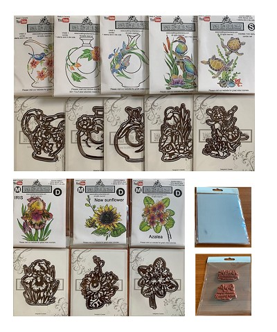 2020 Summer new release A set+C set ( 8 stamps+16 dies) +bonus ( 2 sentiment stamps + 1 pack acetate sheets) Free shipping