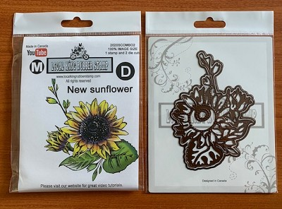 2020 summer new release New sunflower combo set ( 1stamp+2die-cuts)