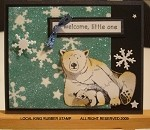 POLAR BEAR (4) CLING MOUNT RUBBER STAMPS