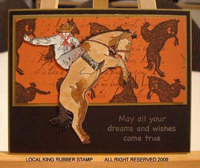 RODEO (6) EZ MOUNT RUBBER STAMPS