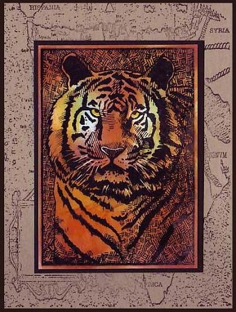 TIGER (3) CLING MOUNTED RUBBER STAMPS