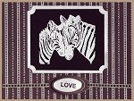 ZEBRA (4) CLING MOUNTED RUBBER STAMPS