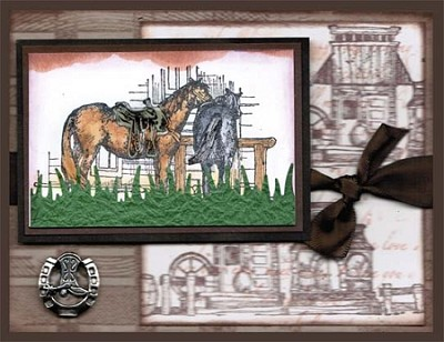 GIDDY UP (5) STATIC MOUNTED RUBBER STAMPS