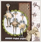 GOOD DAY MATE (5) STATIC MOUNTED RUBBER STAMPS