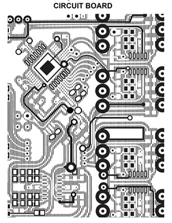 CIRCUIT BOARD 1 STATIC MOUNTED RUBBER STAMP
