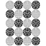 CHINESE SYMBOL 1 STATIC MOUNTED RUBBER STAMP